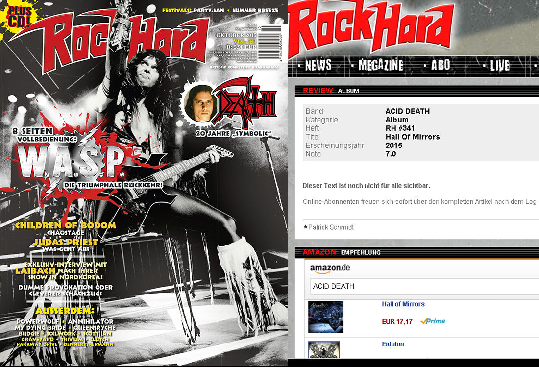 ROCKHARD mag, Germany, September 2015