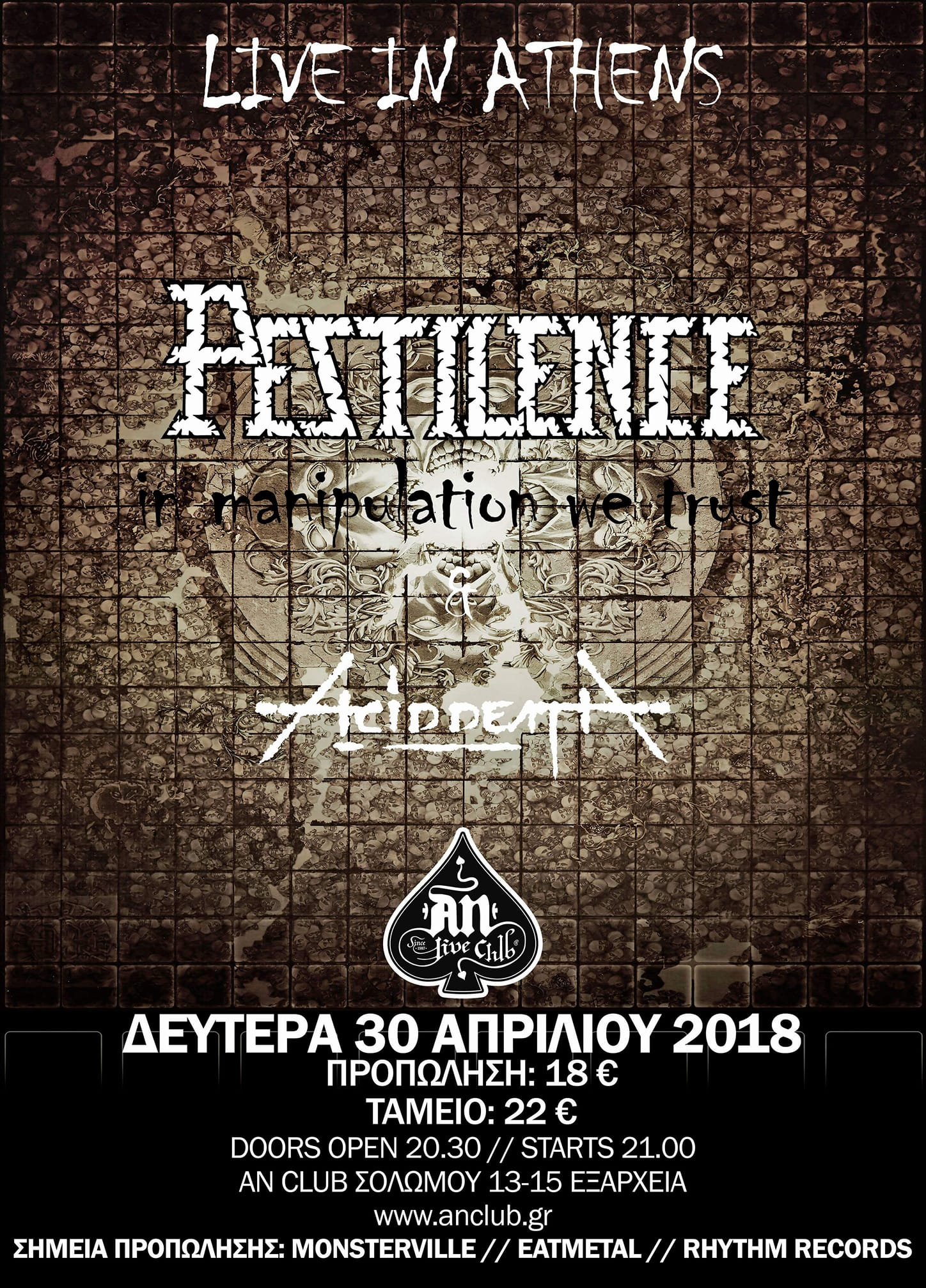 PESTILENCE - ACID DEATH, April 2018