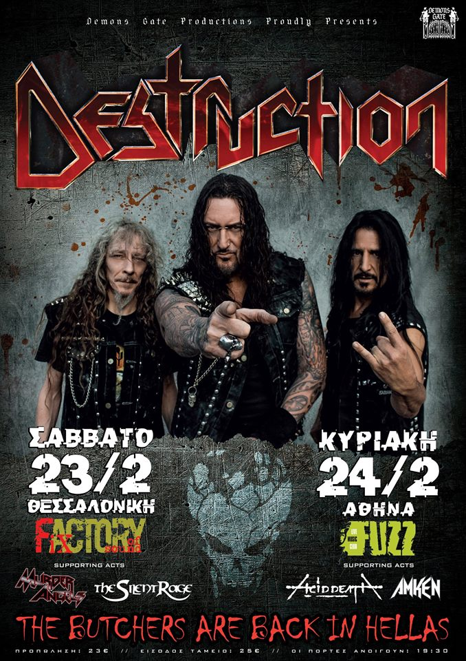 DESTRUCTION - ACID DEATH, February 24th 2019
