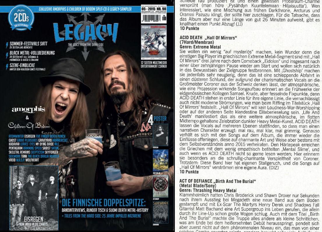 LEGACY magazine, Germany, September 2015