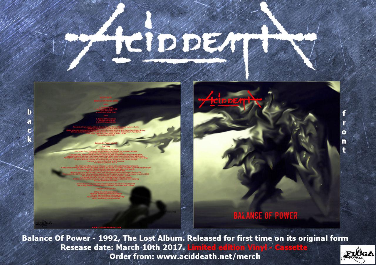 ACID DEATH - Balance Of Power flyer