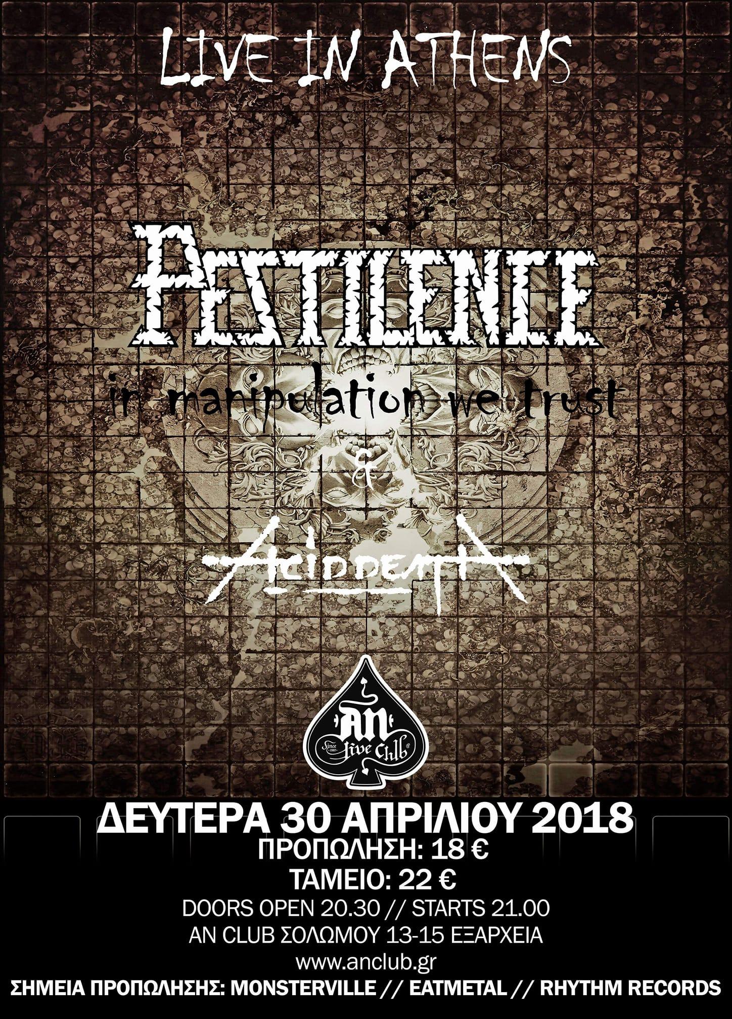 PESTILENCE - ACID DEATH, April 2018